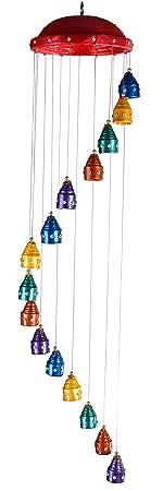 Adorn Creators Wind Chimes (Mini Chaindlier) 6Inch Top, Wall Hanging - Gift Item,Home Decor Item, Handmade