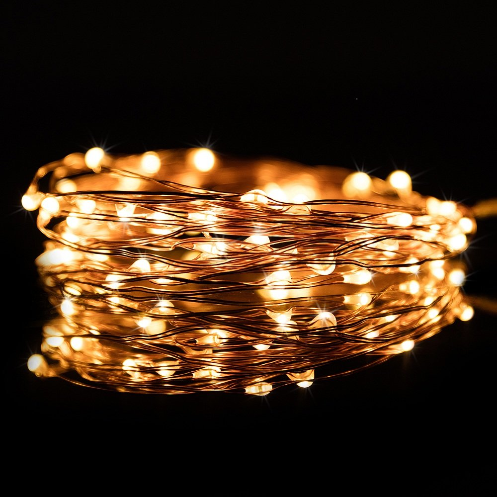 Kohree Christmas String Light Copper Wire Light Waterproof Battery Powered on 40 Feet 120 LEDs Long Ultra Thin String Copper Wire, Decor Rope Light with Timer Perfect for Weddings, Party, Bedroom, Xma by Kohree (Image #6)