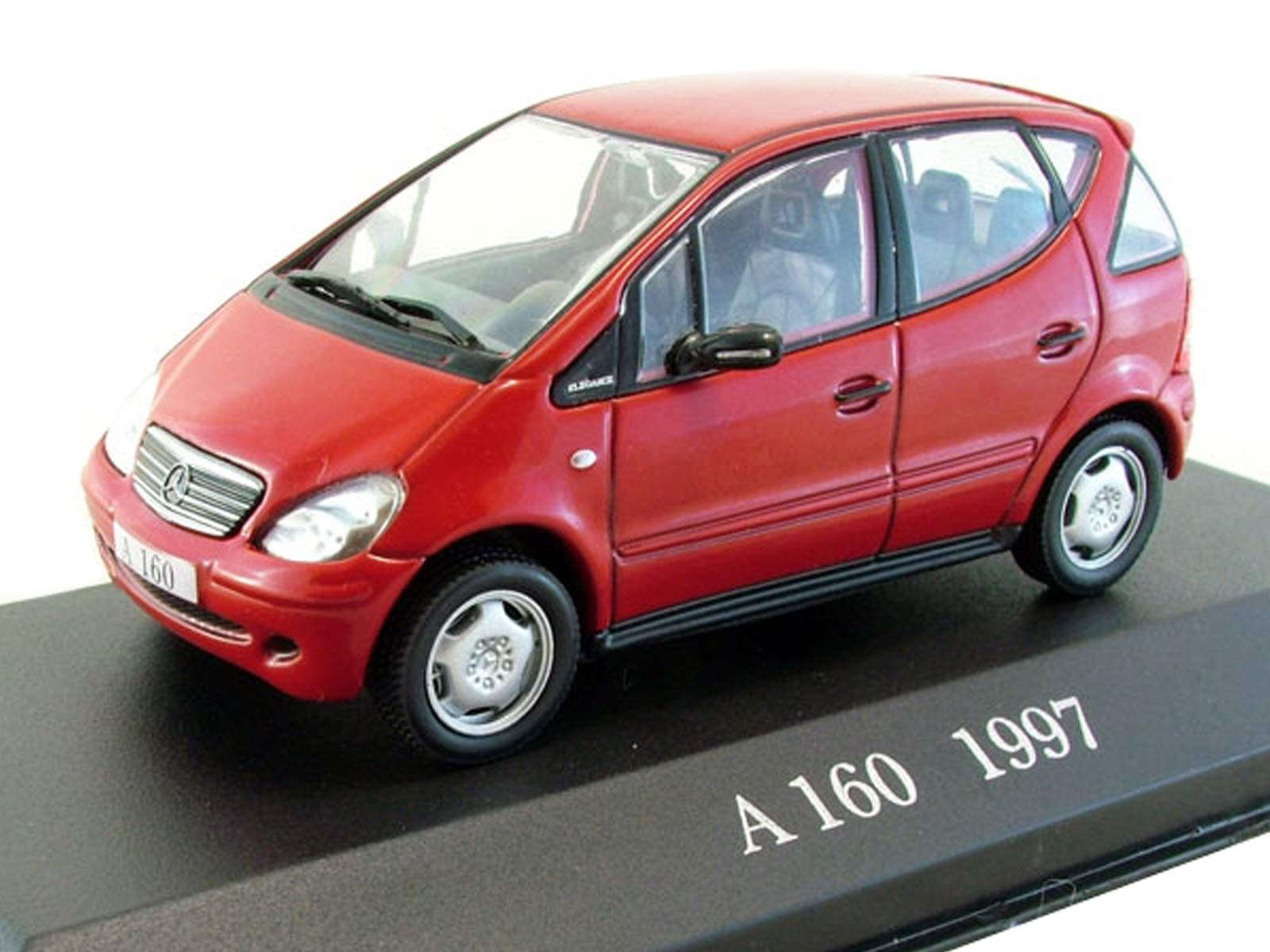 Mercedes-Benz A 160 Red 1997 Year German Executive Car 1/43 Collectible Model Vehicle Subcompact Rear-Wheel Drive Car by Automotive Manufacturer Mercedes-Benz