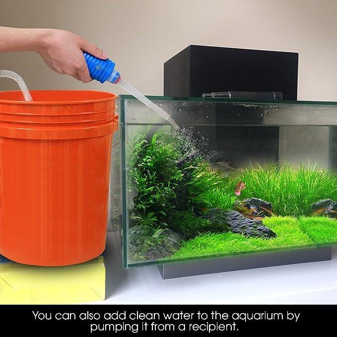 Kit de limpieza de grava para acuario con bombilla de cebado - 2 minutos para montar - Facilita cambios frecuentes de agua: Amazon.es: Productos para ...