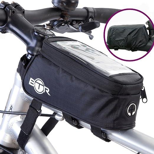 10 opinioni per Borsa BTR per bicicletta porta cellulare- borsa per bicicletta resistente