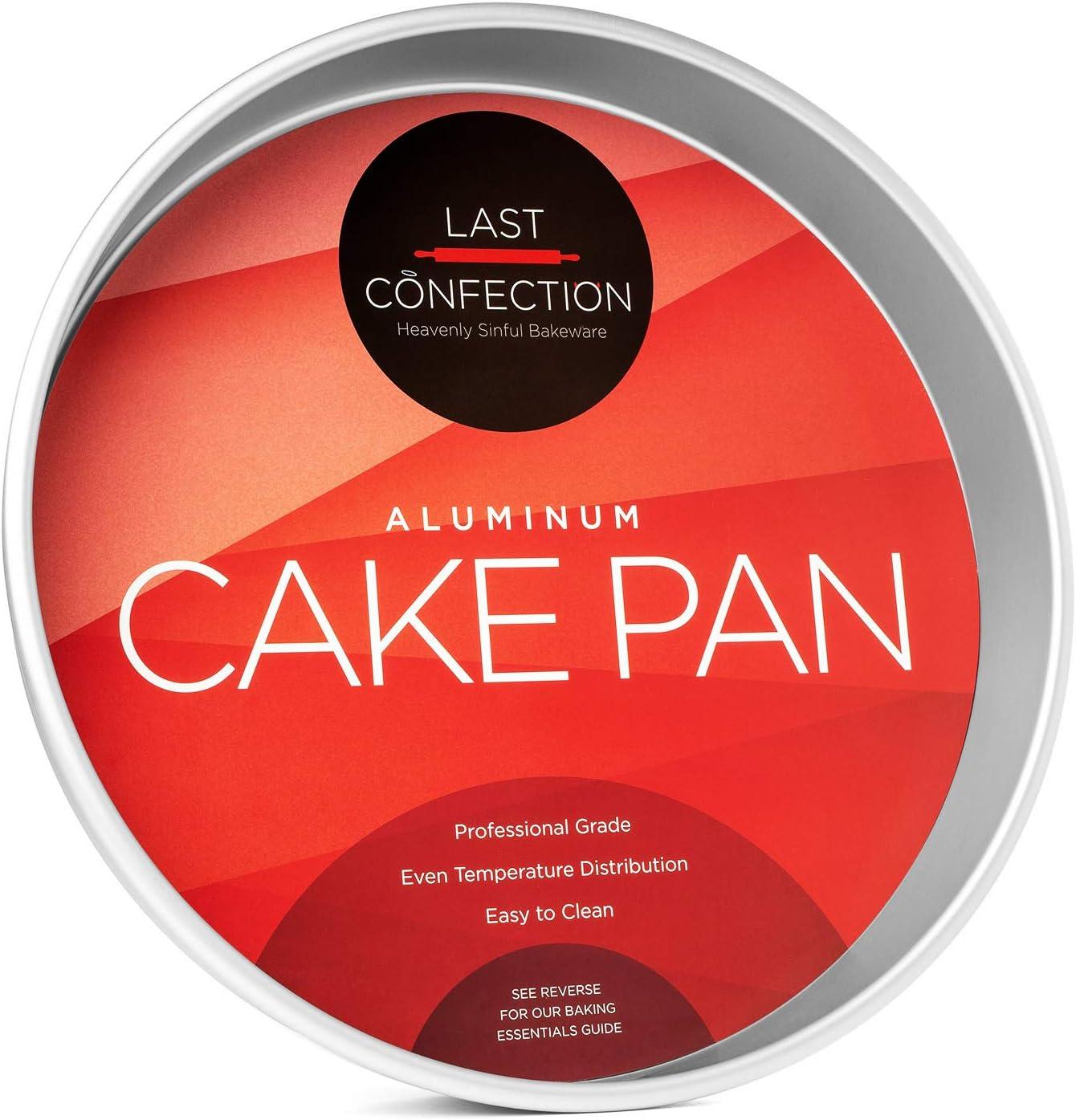 "Last Confection 12"" x 2"" Deep Round Aluminum Cake Pan - Professional Bakeware"