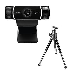 Logitech C922 Pro Stream Full HD Webcam with Mic and Adjustable Tripod - Black