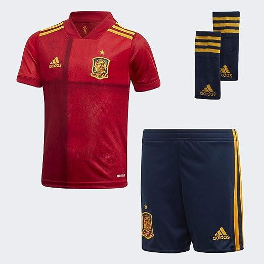 adidas Selección Española Temporada 2020/21 Miniconjunto Primera equipación Unisex Adulto: Amazon.es: Deportes y aire libre