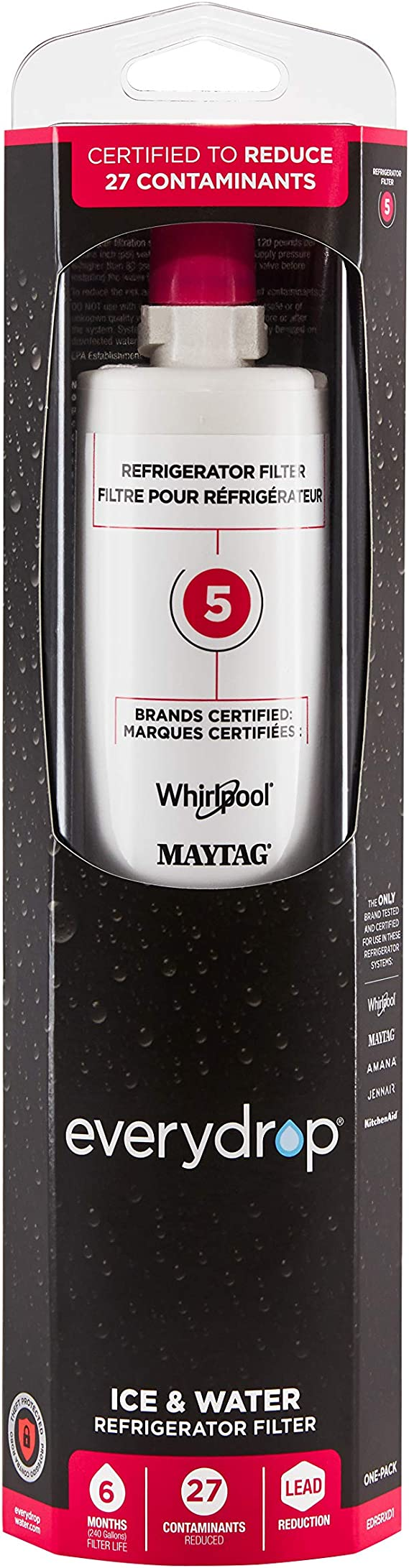EveryDrop by Whirlpool EDR5RXD1 everydrop 5 Refrigerator Water Filter