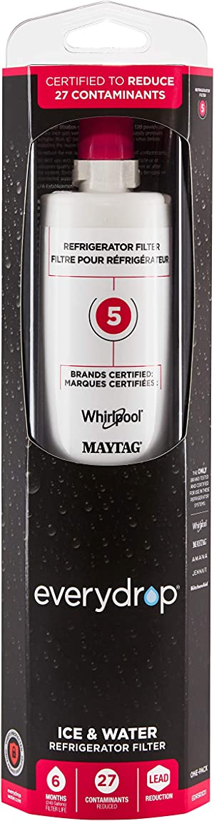 EveryDrop by Whirlpool Refrigerator Water Filter 5, EDR5RXD1 (Pack of 1)