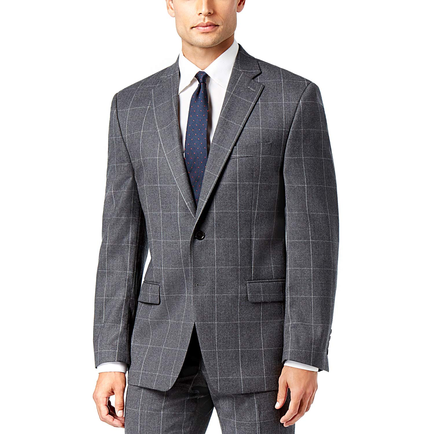be44adb76 Lauren Ralph Lauren. Mens Ultraflex Classic-Fit Windowpane Suit ...