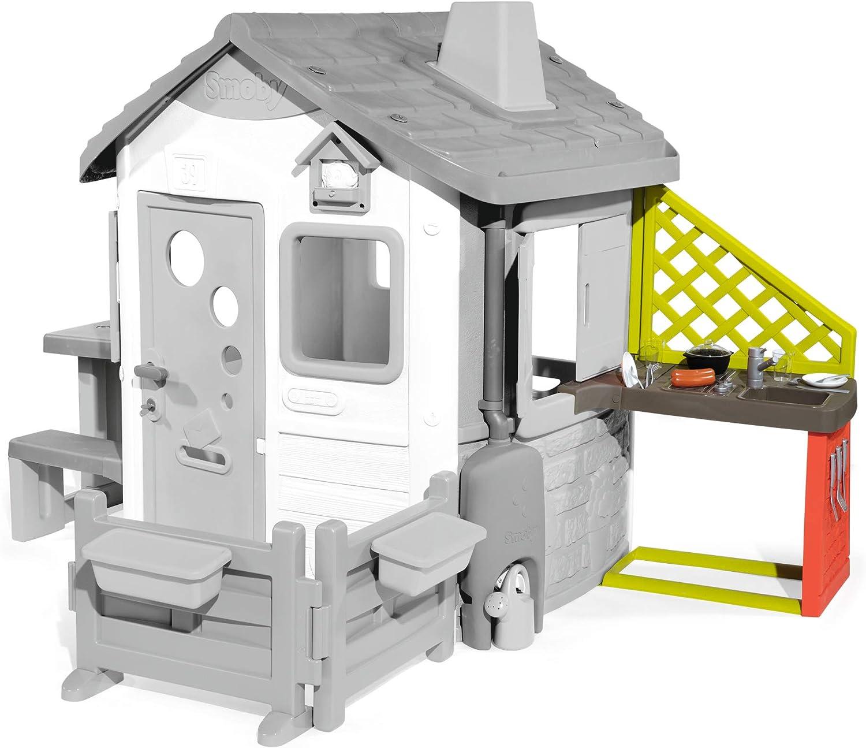 Smoby-Cocina exterior para Jura Lodge II (810901) Accesorio casita, color rojo , color/modelo surtido