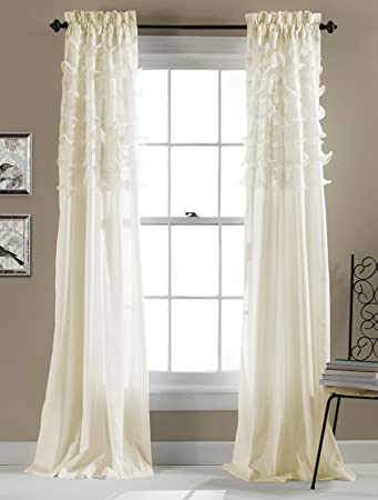 Curtains Ideas 54 inch curtains : Amazon.com: Lush Decor Avery Window Curtains, 84 by 54-Inch, Ivory ...