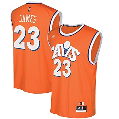 905511b20be Lebron James Cleveland Cavaliers Replica Orange Throwback Youth Jersey Boys  8-20 (Youth Small
