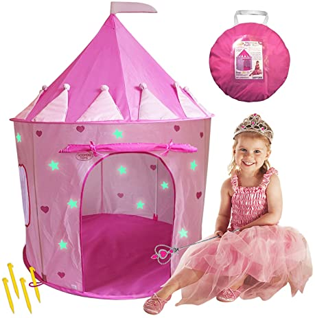 WooHoo Toys Children Pink Princess Castle Playhouse Play Tent For Girls Indoor/Outdoor with  sc 1 st  Amazon.com & Amazon.com: WooHoo Toys Children Pink Princess Castle Playhouse ...