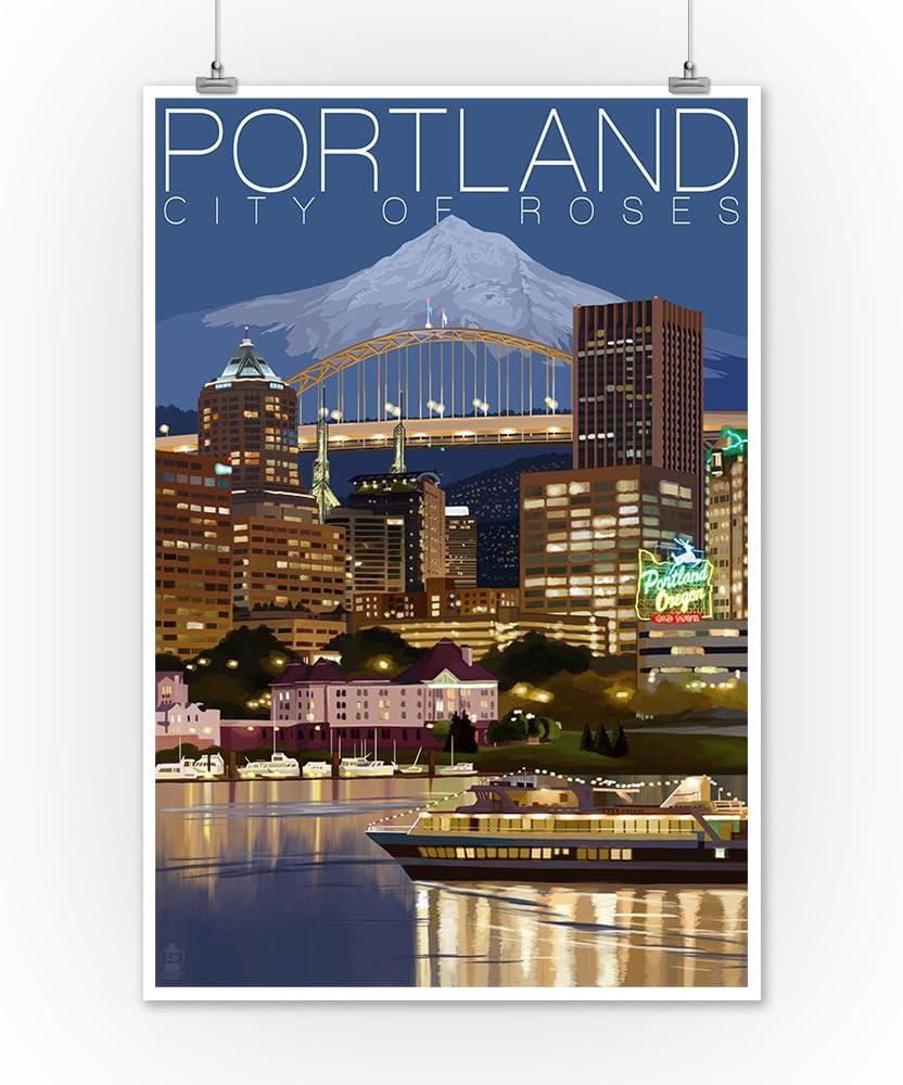 Alaska Land of The Midnight Sun Retro Travel Art Poster 12x18 inch