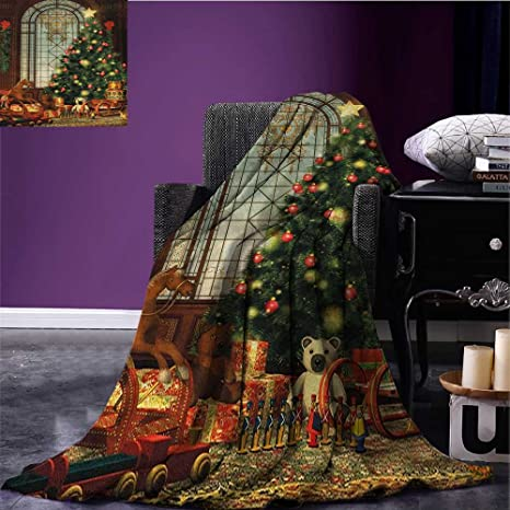 christmas outdoor blanket magical vintage ambiance big old fashioned window xmas tree various presents custom made - Old Time Christmas Decorations Outdoor