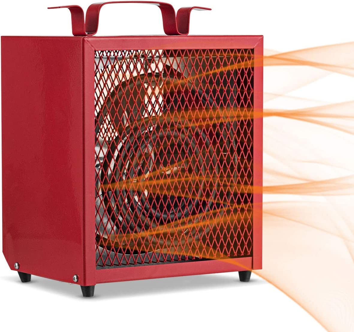 COSTWAY Garage Heater, 4800W Electric Commercial Heater with Adjustable Thermostat, Overheat and Delayed Protection, Portable Handle, Freestanding or Ceiling Mount Heaters for Garage and Workshop