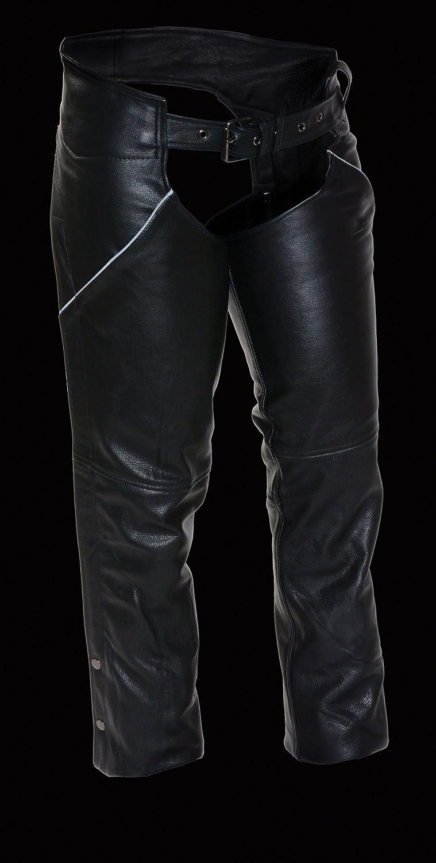 Black, XXX-Large Milwaukee Womens Basic Chaps with Deep Pockets