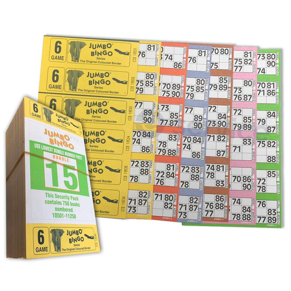 Toys & Games Traditional Games Bingo Tickets 3000 2 Page 6 To View Bingo Books