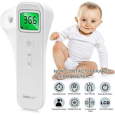 Termómetro Infrarrojo, AGM Termómetro de Frente y Muñeca Digital Instantáneas, Pantalla LCD Termómetro sin Contacto Profesional para Bebé, Niños, Adultos