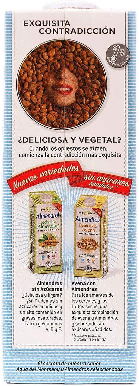 Almendrola - Bebida Vegetal de Almendras Original - Caja de 6 x 1L: Amazon.es: Alimentación y bebidas