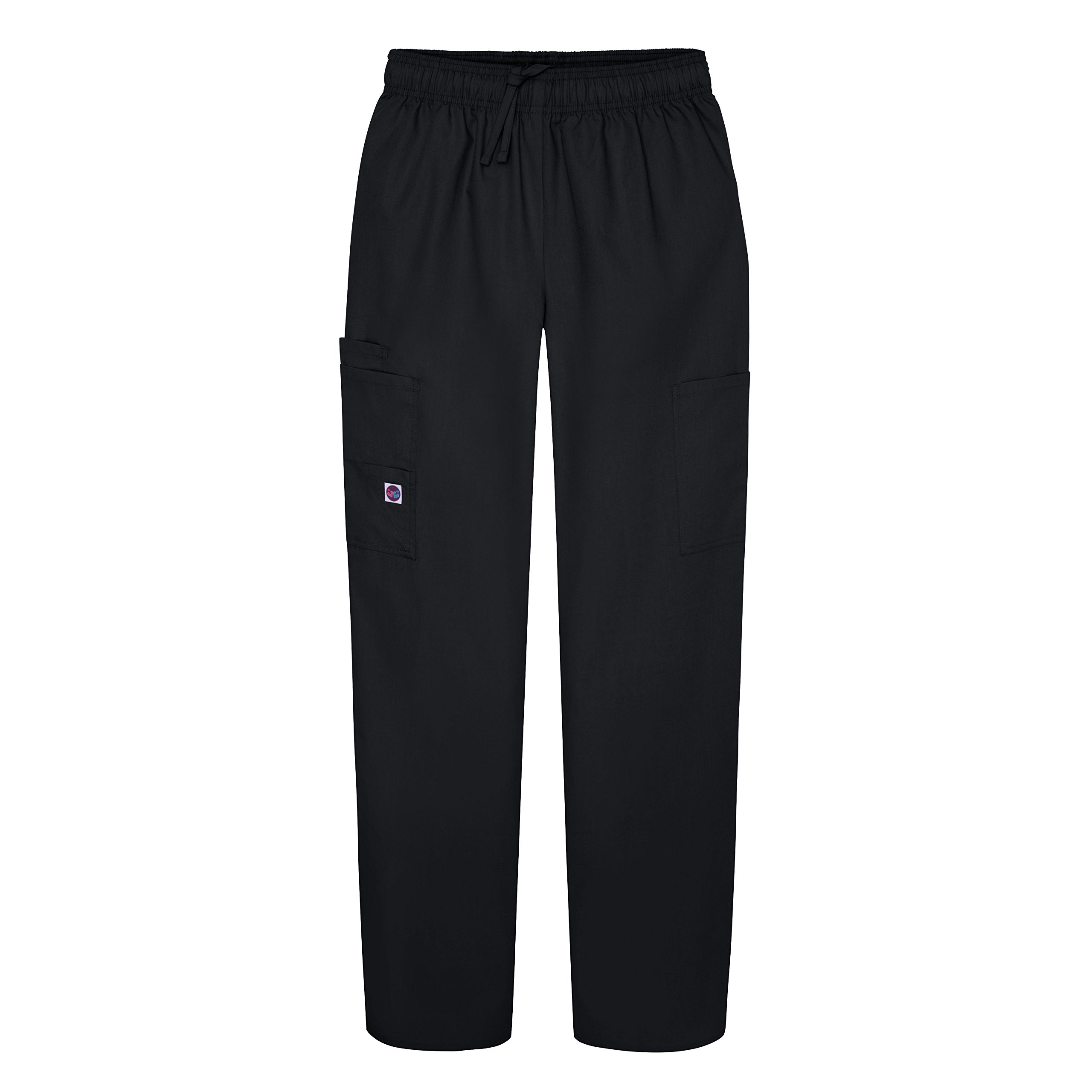 Sivvan Women's Scrubs Drawstring Cargo Pants (Available in 12 Colors) - S8200 - Black - 2X