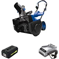 Snow Joe iON21SB-PRO 40-Volt iONMAX Cordless Brushless Single Stage Snow Blower Kit | 21-Inch | W/ 5.0-Ah Battery and…