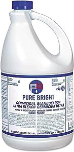 Wholesale CASE of 10 - KIK Custom Prod. PureBright Germicidal Bleach-Pure Bright Ultra Bleach, 1 Gal, White