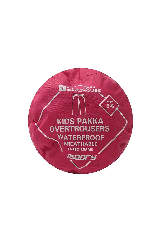 Mountain Warehouse Pakka Kids Waterproof Rain Pants for Boys /& Girls