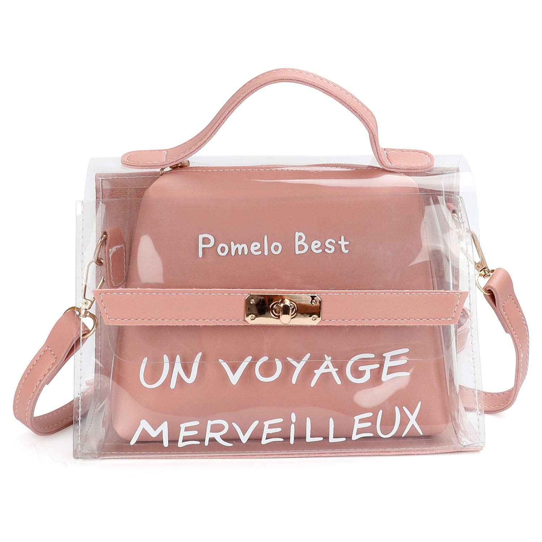 a8b4170dde Aiteen Borsa Messenger Donna Trasparente Borsa a Mano Spalla Tracolla Tote,  rosa product image