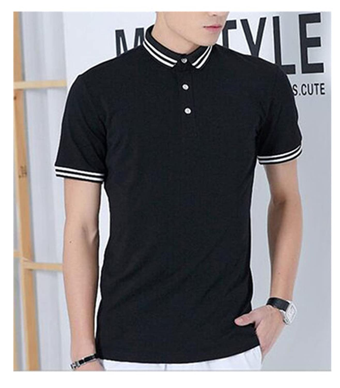 Giles Abbot New Summer New Solid Mens Short Sleeve Polo Shirts Male Fashion Casual Polos Brand Clothing Polo Tops Jerseys