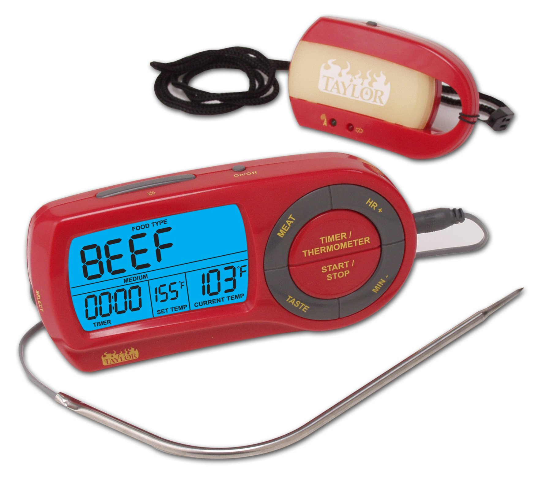 Taylor Weekend Warrior Wireless Thermometer with Remote Pager-Discontinued By Manufacturer