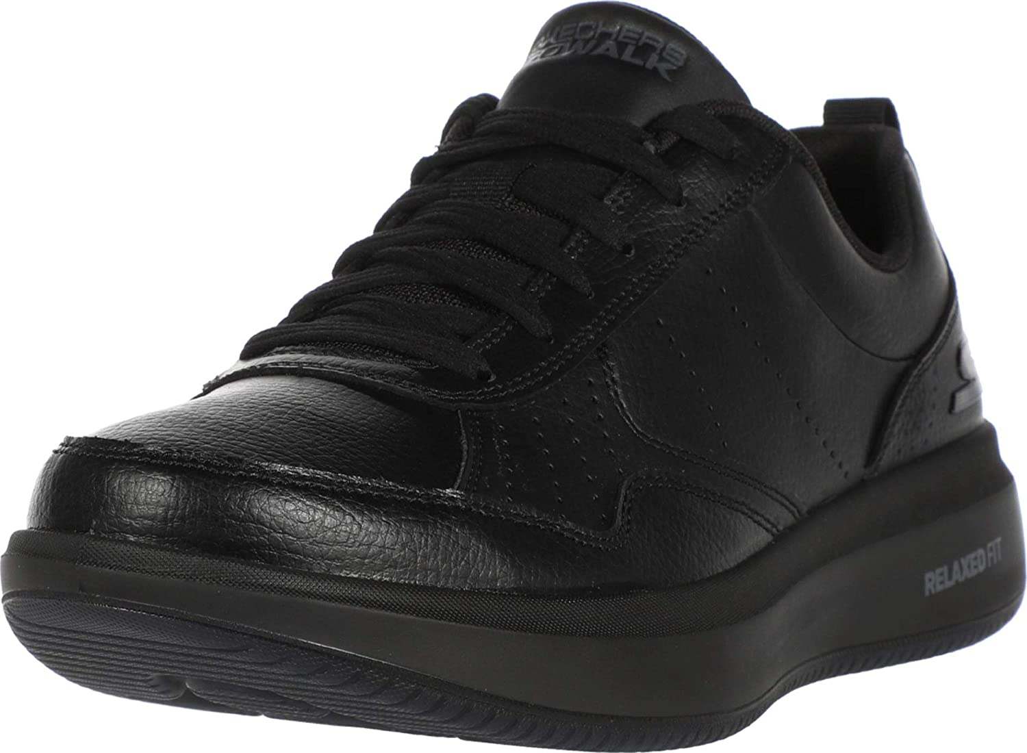 Skechers Men's Gowalk Steady-Relaxed Fit Lace-up Large special price Full Pe Leather Excellent