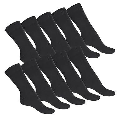 celodoro - 10 pares de calcetines de ejecutivo - Remallados a mano y sin costuras - 100 % algodón - Negro - 43/46: Amazon.es: Ropa y accesorios