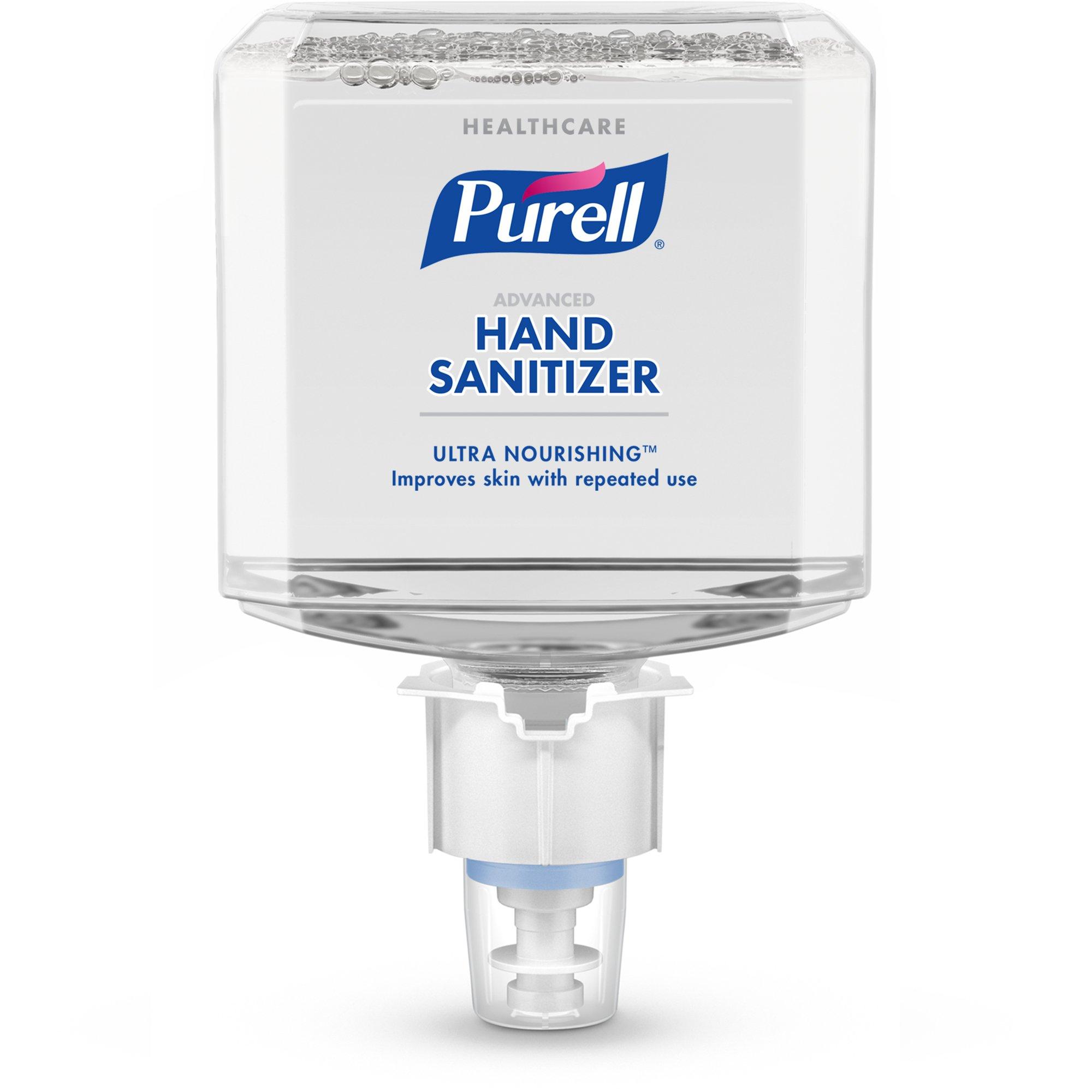 PURELL Healthcare Advanced Hand Sanitizer Foam Refill, Ultra Nourishing, 1200mL Refill for ES4 Hand Sanitizer Dispenser (Pack of 2) - 5056-02