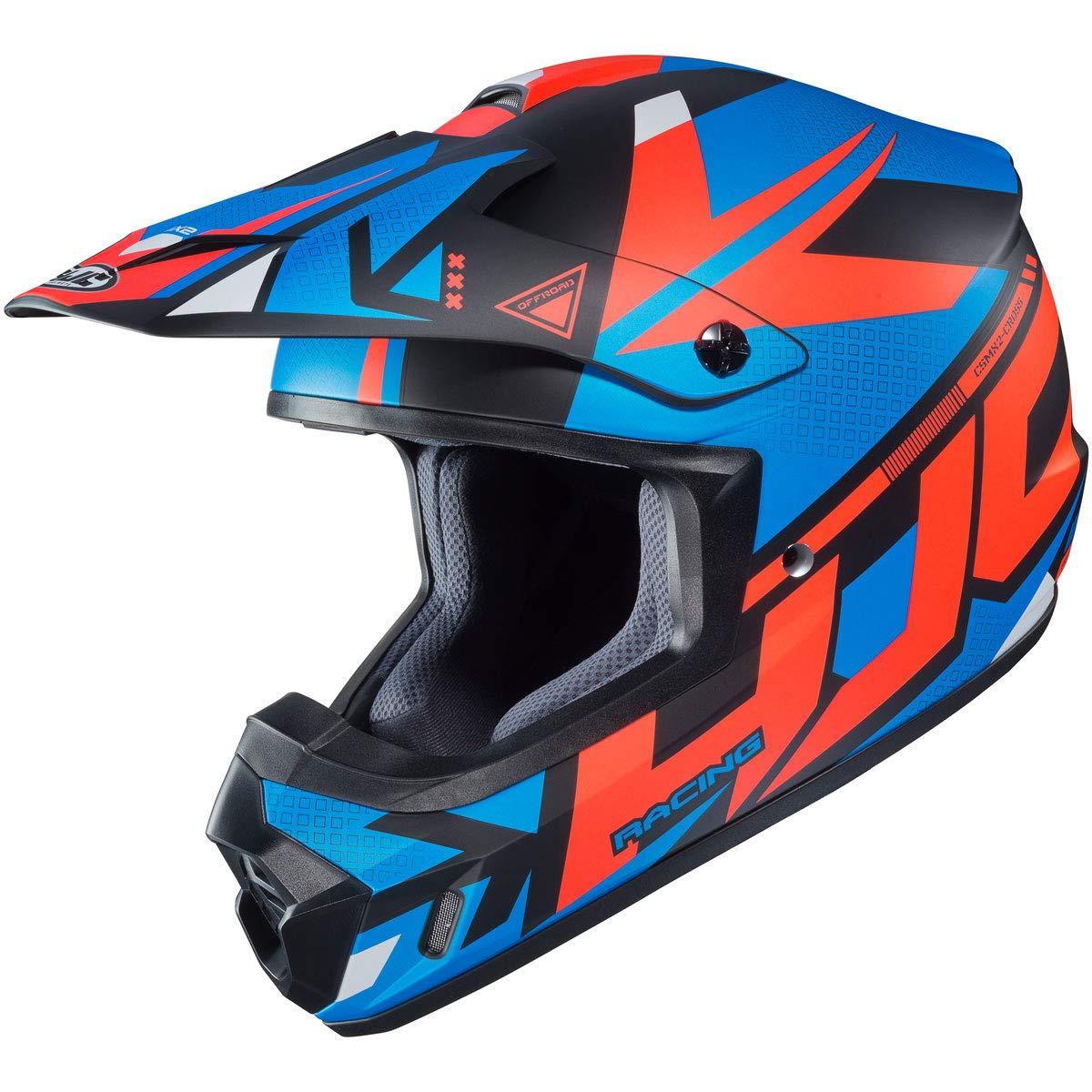 0871-1626-05 MEDIUM BLUE//ORANGE Madax HJC Helmets CS-MX2 Helmet