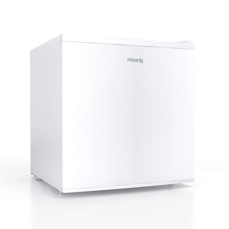 Blanco 2 Cajones Ultra Silencioso Capacidad de 35 litros 75 W H.KOENIG FGW400 Mini Congelador Vertical