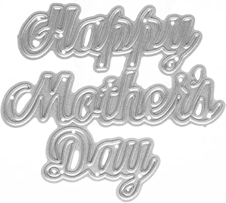 Happy Mothers Day Metal Cutting Dies Scrapbooking Craft Embossing Card Making