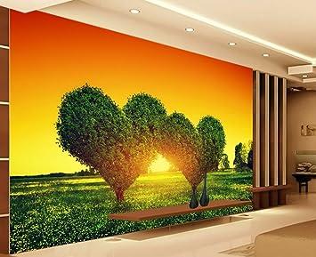 Liebe Baum Landschaft Hintergrund Wand Paar Hotel Dekoration ...