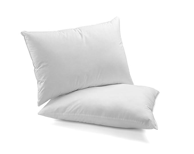 DAGOSTINO HOME - Pack de 2 almohadas de microfibra Supersoft lavables 40x90 cm - Pack de 2 unidades