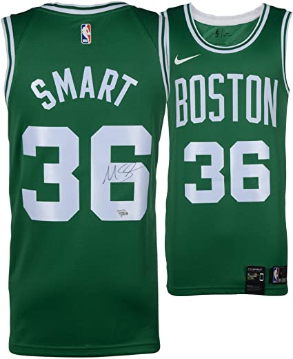 sports shoes 2c379 4aaa4 Marcus Smart Boston Celtics Autographed Green Nike Swingman ...