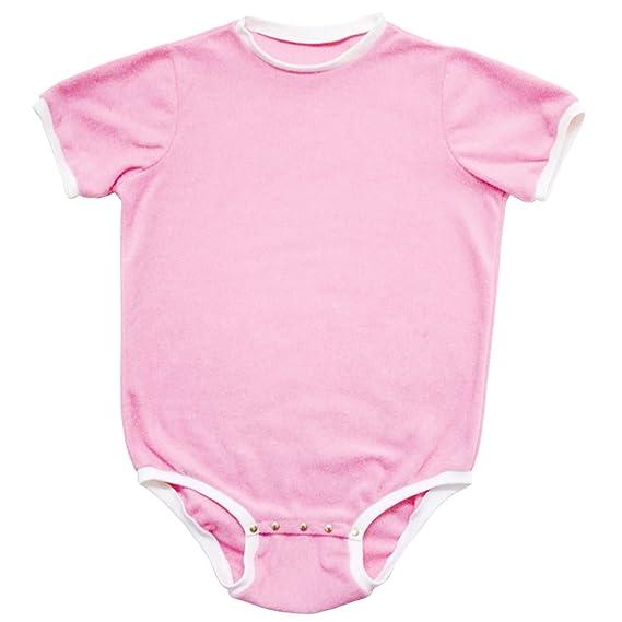 47ea6142170a Cuddlz Short Baby Pink Fleece Adult Onesie Baby Grow Romper ABDL ...