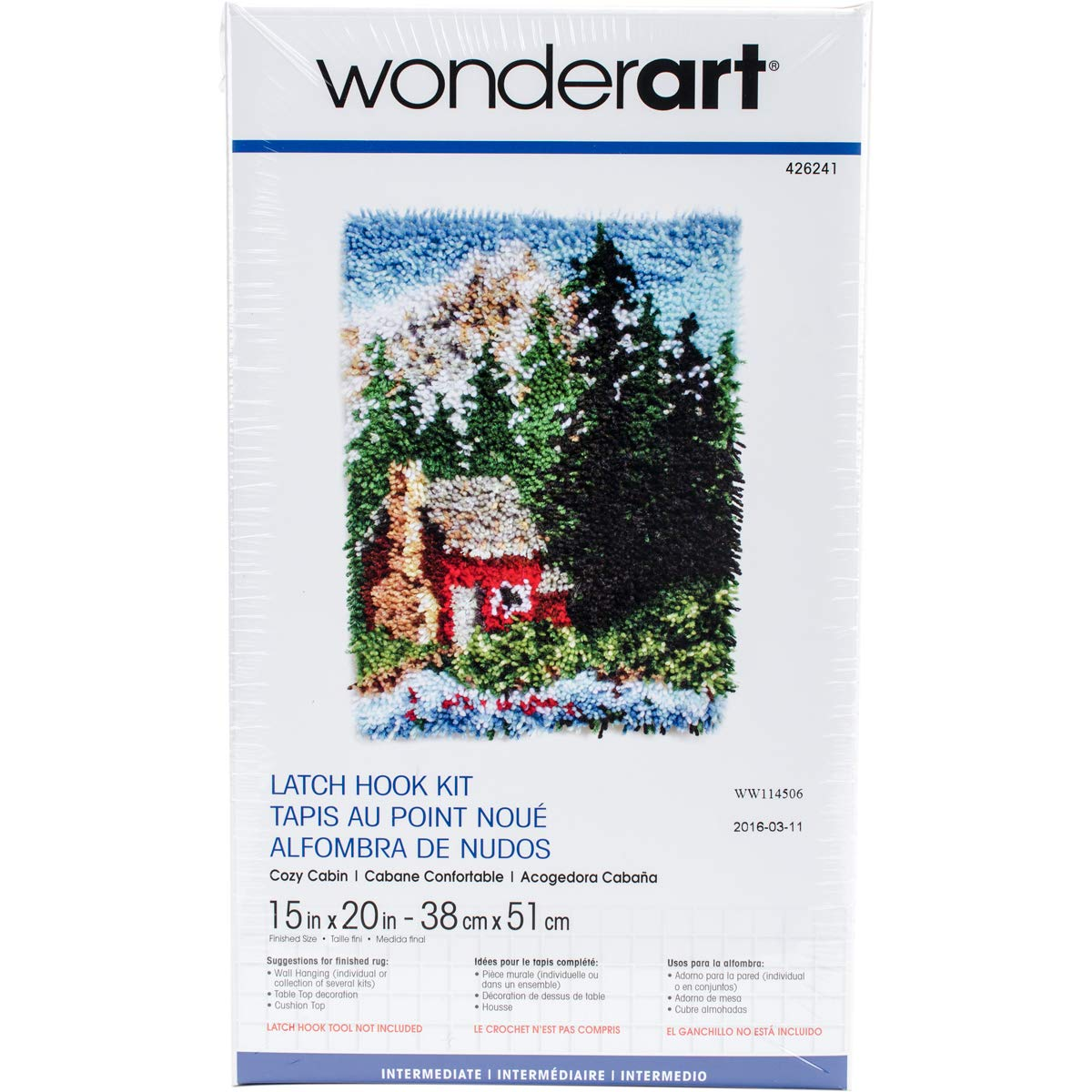 Wonderart Arctic Family Latch Hook Kit 15 X 20
