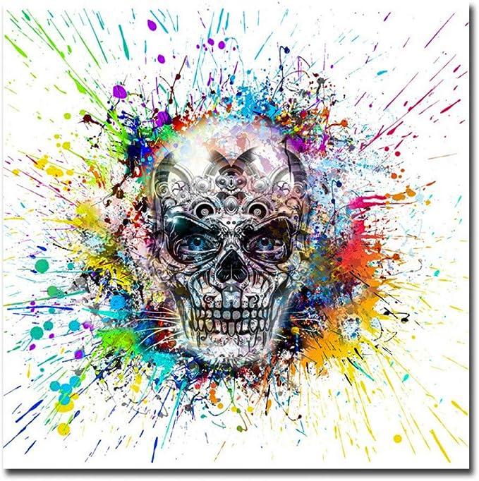 Acheter tableau peinture tete de mort online 10