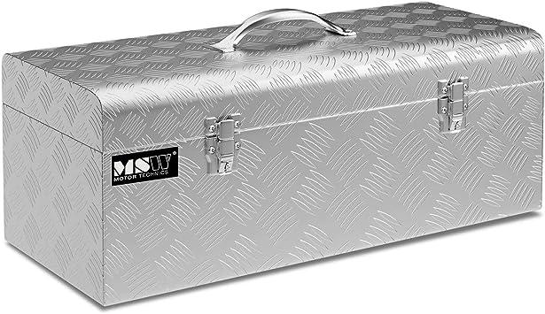 MSW Caja De Herramientas De Aluminio Cofre Estriado MSW-ATB-575 (Grosor del material: 1,3 mm, 57,5 x 24,5 x 22 cm, Volumen de 31 Litros): Amazon.es: Bricolaje y herramientas