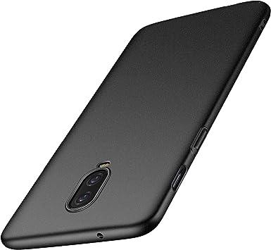 anccer Funda OnePlus 6T, Ultra Slim Anti-Rasguño y Resistente Huellas Dactilares Totalmente Protectora Caso de Duro Cover Case para OnePlus 6T (Grava Negro): Amazon.es: Electrónica