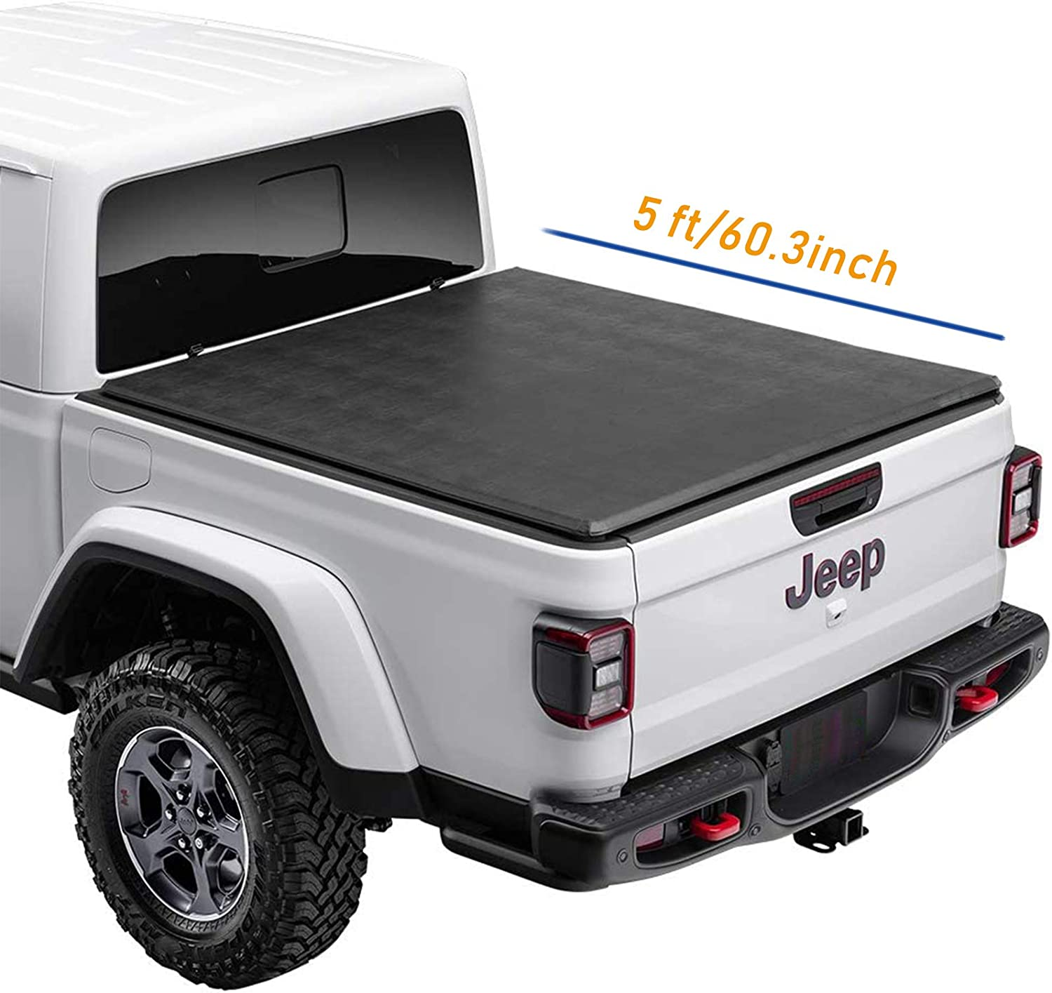 Lyon 5'/60.3 Soft Roll Up Truck Bed Cover for Fits 2020-2021 Jeep Gladiator