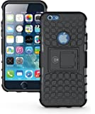 iPhone 6 Plus Case, iPhone 6 PLUS / iPhone 6S PLUS Armor cases (6+ ONLY) Tough Rugged Shockproof Armorbox Dual Layer Hybrid Hard/Soft Slim Protective Case (5.5 inch) by Cable and Case - Black