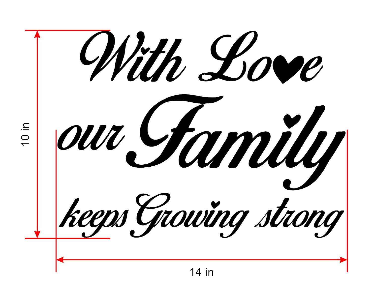 Amazon.com: Family quotes wall décor is White Vinyl Wall ...