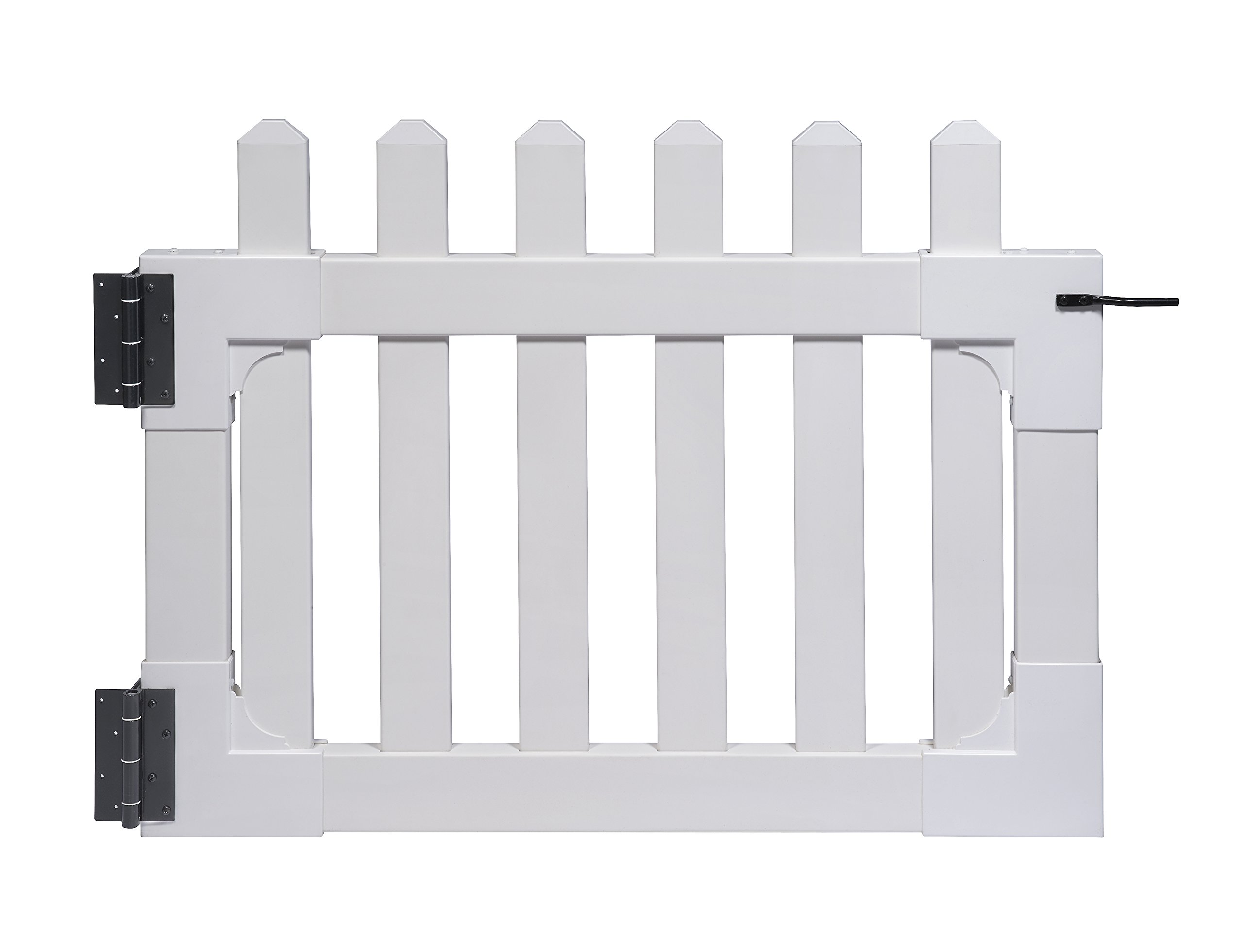 Zippity Outdoor Products ZP19004 Newport Vinyl Picket Unassembled Gate, 31''H x 41''W'', White by Zippity Outdoor Products