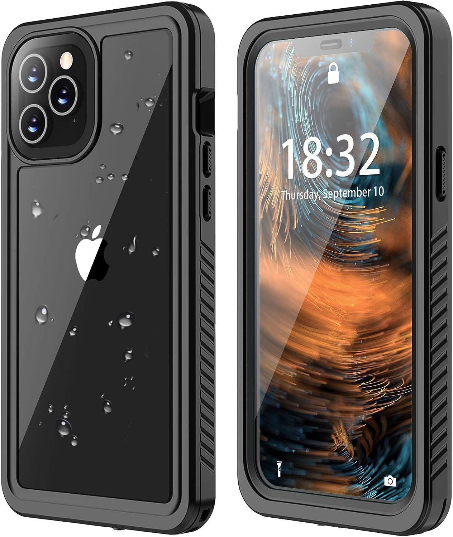 ANTSHARE for iPhone 12 Pro Max Waterproof Case, for iPhone 12 Pro Max Case Built-in Screen Protector Full Body Protective Shockproof Dustproof IP 68 Waterproof Case for iPhone 12 Pro Max 6.7''
