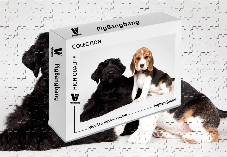 売り切れ必至! PigBangbang -、プレミアムバスウッド壁画 - キュートな子犬 キュートな子犬 ブラックとスポッテッドドッグ - 1000ピースジグソーパズル X (29.5 X 19.6インチ) B07HCDCCJV, 白石町:d63a1280 --- a0267596.xsph.ru