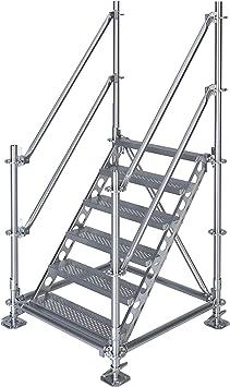 Scafom-rux - Escalera de construcción (para 1 m de altura, acero galvanizado): Amazon.es: Bricolaje y herramientas